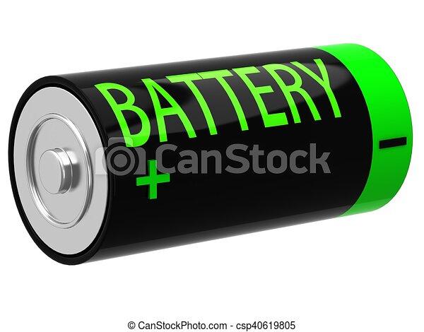 3D illustration of battery - csp40619805