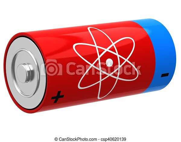 3D illustration of battery - csp40620139