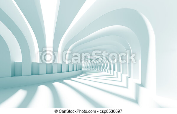 3d Illustration of Blue Abstract Architecture Background - csp8530697