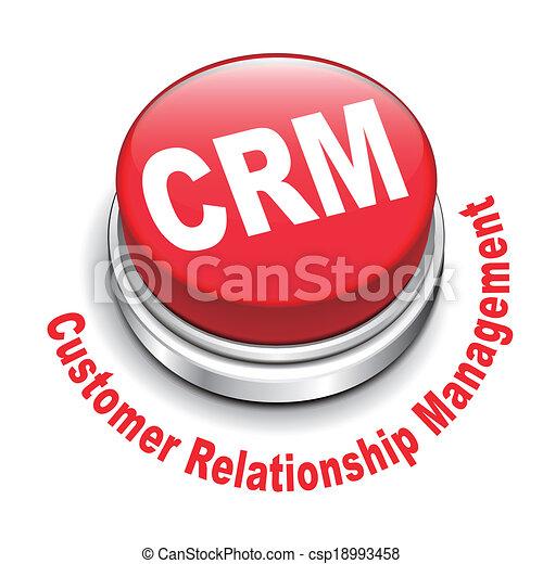 3d illustration of crm (customer relationship management ...