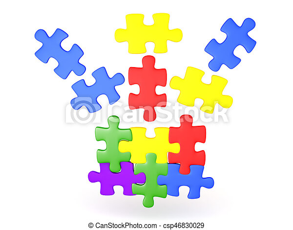3d illustration of jigsaw puzzle pieces falling into place clip rh canstockphoto com jigsaw puzzle pieces clipart jigsaw puzzle clip art free