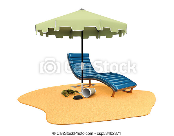 3d illustration of sun umbrella and chair on the beach stock rh canstockphoto com furniture clipart 1/4 scale furniture clipart pinterest