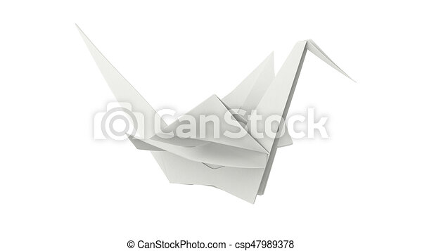 Realistic Detailed 3d Origami White Paper Stock Vector (Royalty ... | 273x450