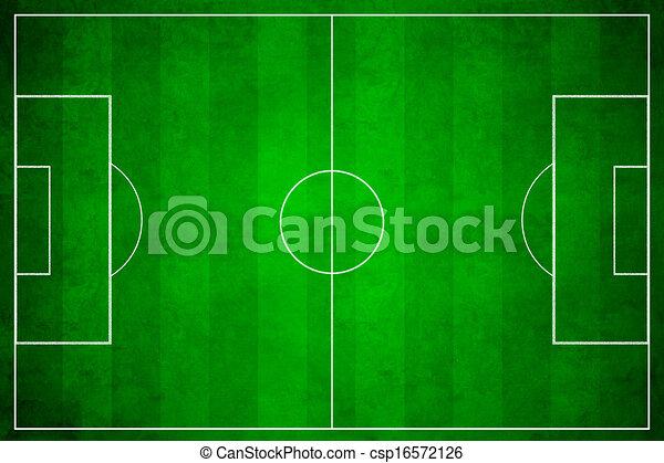 3d image of green soccer field, football - csp16572126