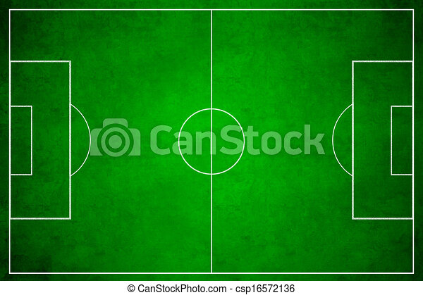 3d image of green soccer field, football - csp16572136