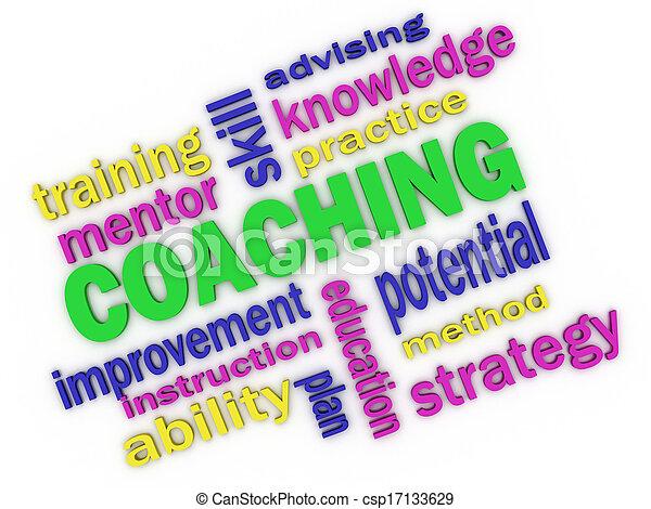 3d imagen about coaching concept - csp17133629