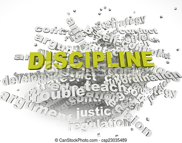 3d imagen Discipline issues concept word cloud background - csp23035489