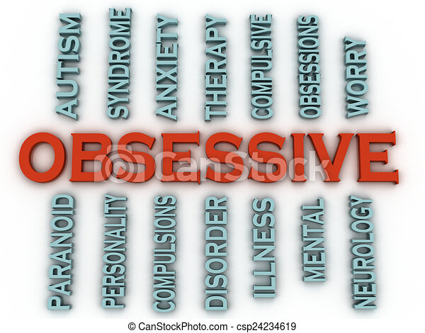 3d imagen Obsessive (OCD or Obsessive Compulsive Disorder)  issu - csp24234619