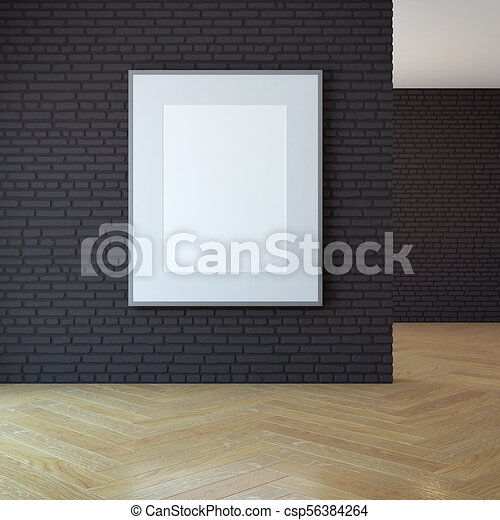 3d, immagine, parete bianco, interpretazione - csp56384264