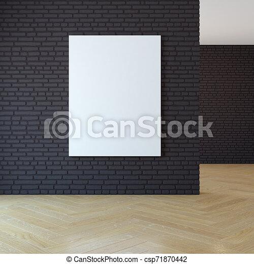3d, immagine, parete bianco, interpretazione - csp71870442