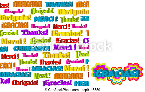 3D International Thanks Graphic  - csp9115559