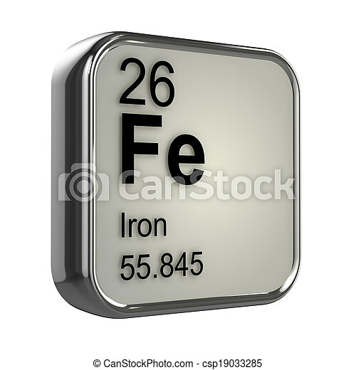 3d Iron element - csp19033285