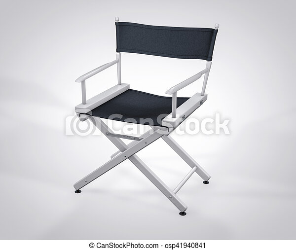 3D Isolated Film Director Chair. Hollywood Studio Movie Set.   Csp41940841