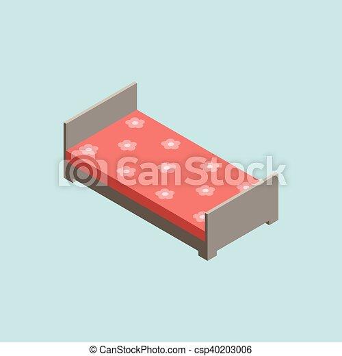 3D isometric bed - csp40203006