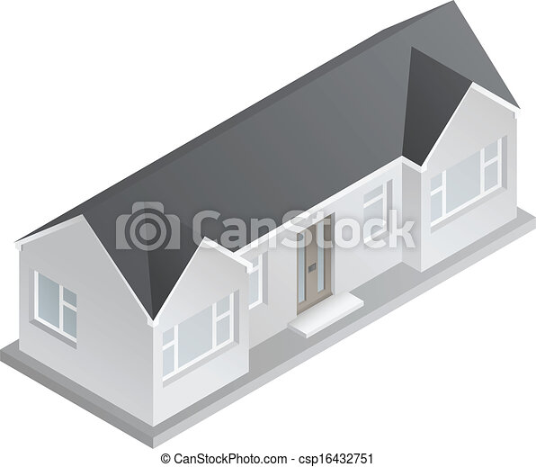 3d Isometric Bungalow Drawing Of A Double
