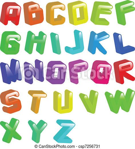 3d jellybean font - csp7256731