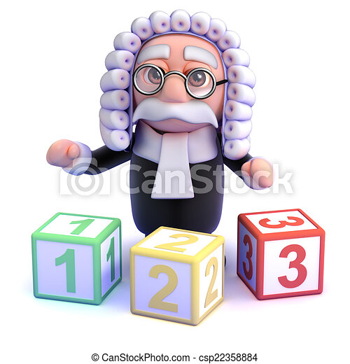 3d Judge teaches you to count - csp22358884