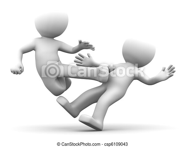 3d karate fighters  - csp6109043