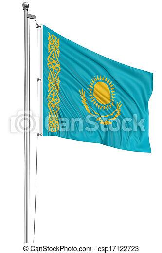 3D Kazakh flag - csp17122723