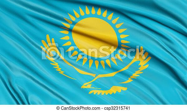 3D Kazakh flag - csp32315741