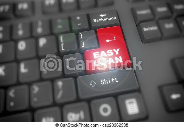 3d keyboard - easy loan - csp20362338