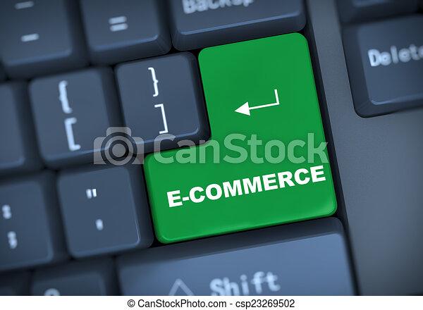 3d keyboard text ecommerce - csp23269502