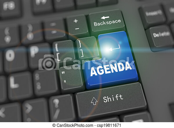 3d keyboard - word agenda - csp19811671