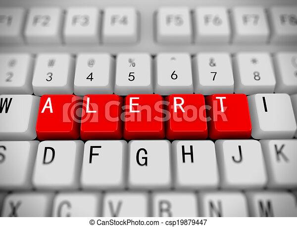 3d keyboard - word alert - csp19879447