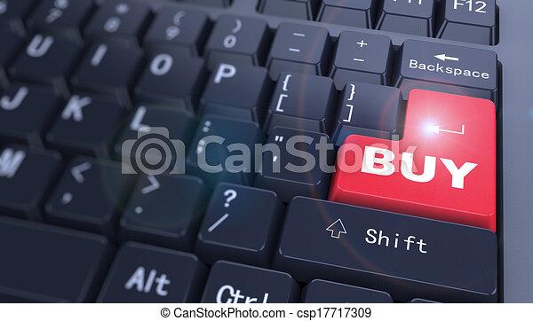 3d keyboard - word buy - csp17717309