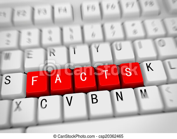 3d keyboard - word facts - csp20362465
