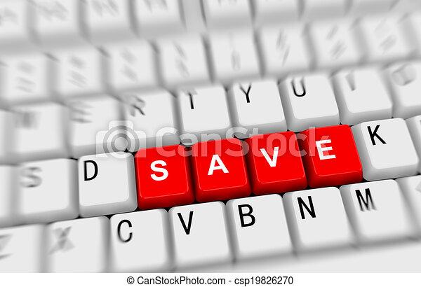 3d keyboard - word save - csp19826270