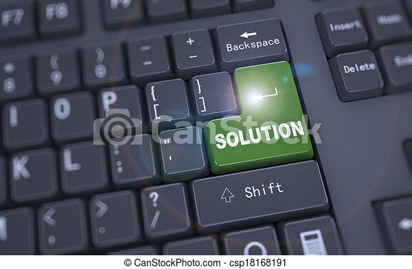 3d keyboard - word solution - csp18168191