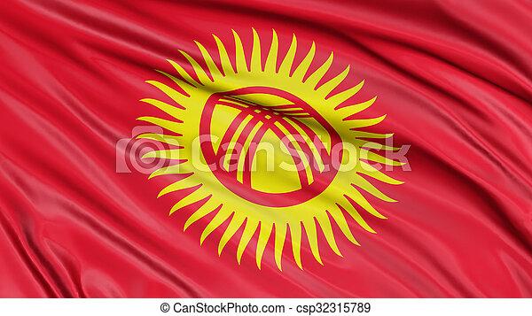 3D Kirghiz flag - csp32315789