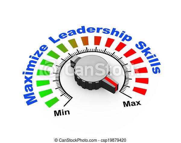 3d knob - maximize leadership skills - csp19879420