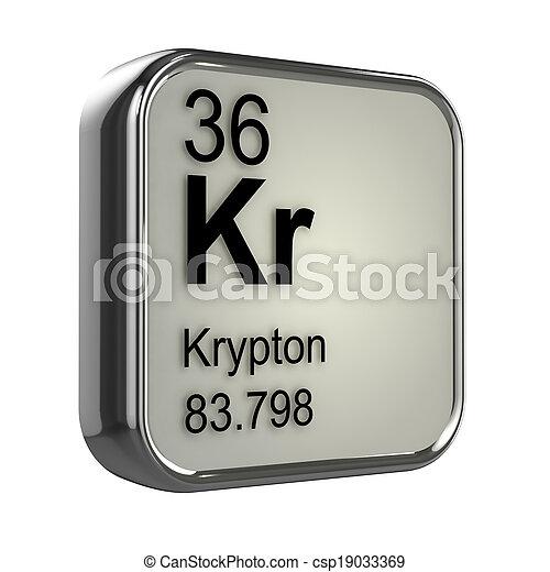 3d Krypton element - csp19033369