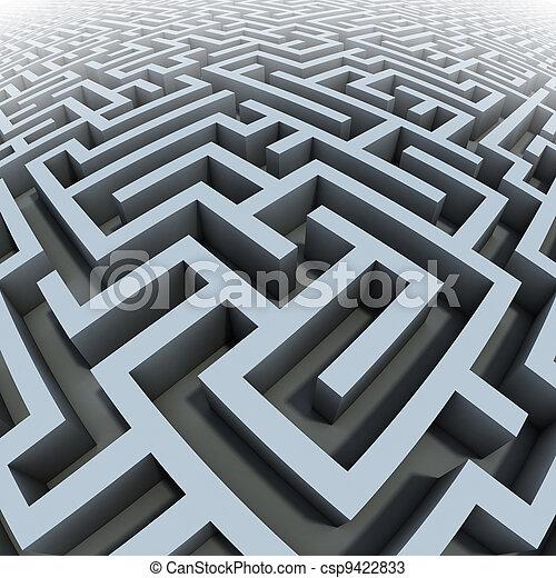 3d labyrinth - csp9422833
