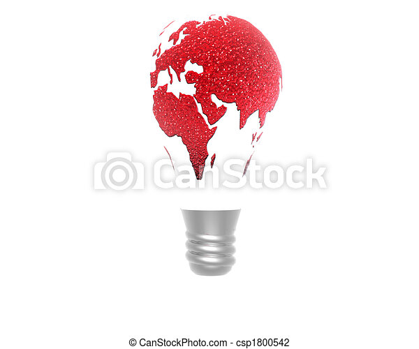 3D lamp with earth texture - csp1800542