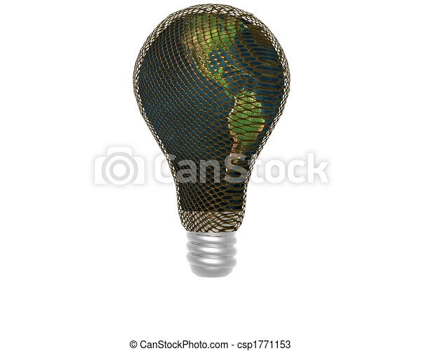 3D lamp with earth texture - csp1771153