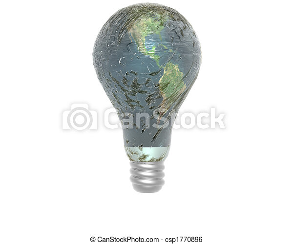3D lamp with earth texture - csp1770896