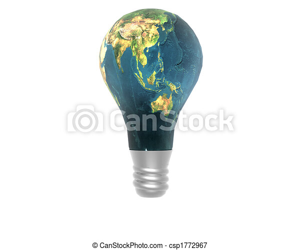 3D lamp with earth texture - csp1772967