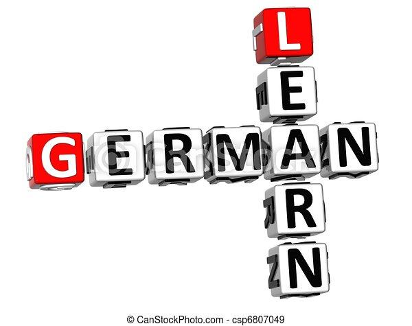 3D Learn German Crossword - csp6807049