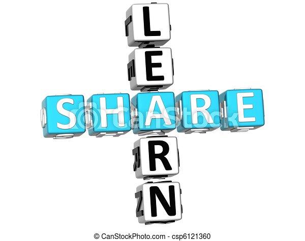 3D Learn Share Crossword - csp6121360