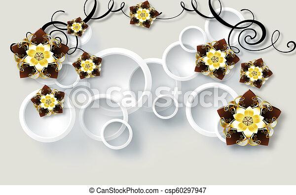 3d Light Golden Jewelry Background Wallpaper
