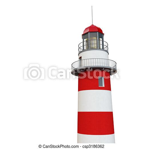 3d lighthouse - csp3186362