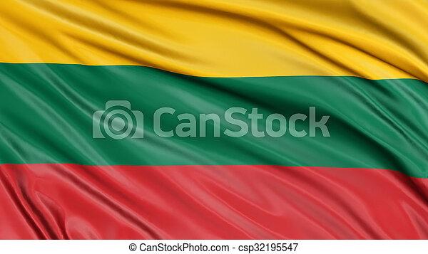 3D Lithuanian flag - csp32195547