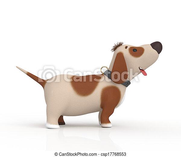 3d little ridiculous dog - csp17768553