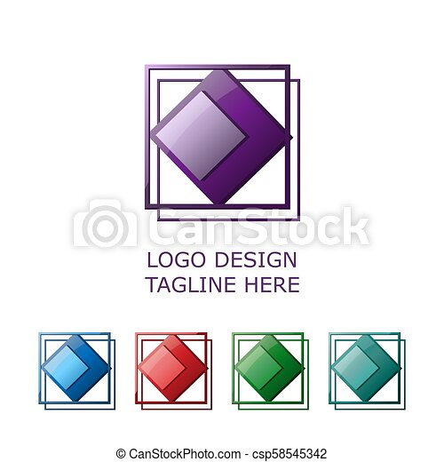 3d logo on white background - csp58545342