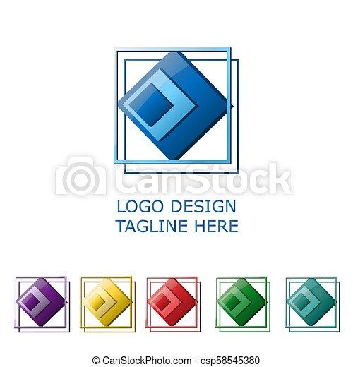 3d logo on white background - csp58545380
