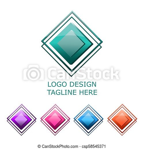 3d logo on white background - csp58545371
