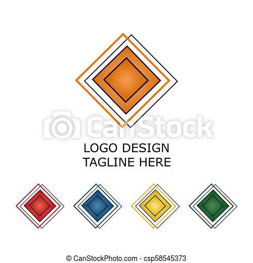 3d logo on white background - csp58545373
